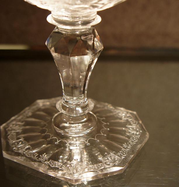 装飾ガラス「鹿文様 クープグラス」