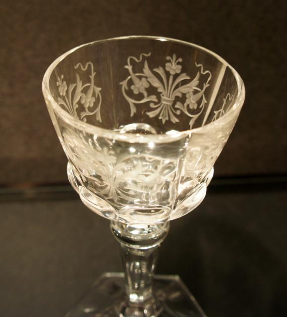 装飾ガラス「花文様 リキュールグラス」