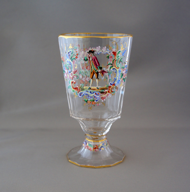 装飾ガラス「人物装飾ウォーターグラス」
