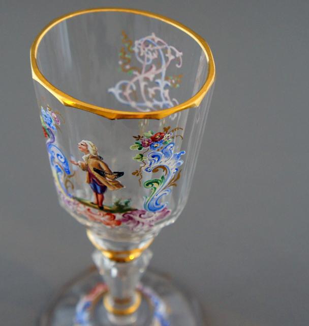 装飾ガラス「人物装飾ワイングラス」