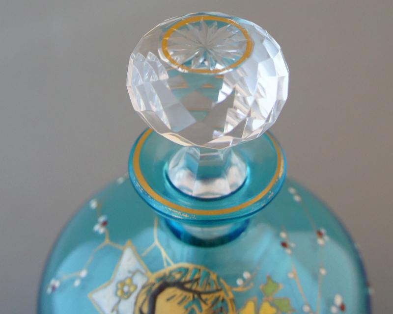 装飾ガラス「ジャポニズム 柳文様 香水瓶」