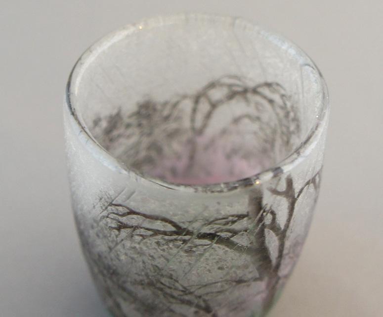 アールヌーヴォー「雨景色 リキュールグラス」