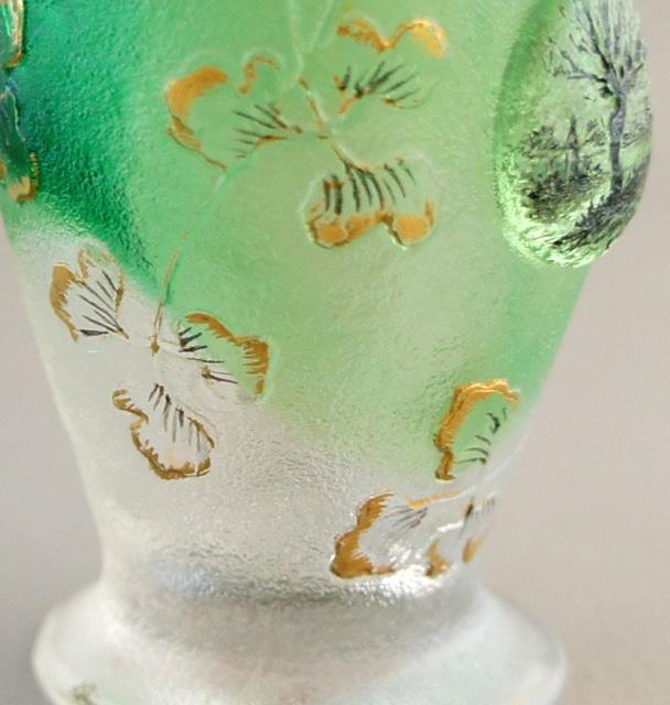 アールヌーヴォー「木立風景 リキュールグラス」