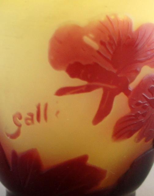 アールヌーヴォー「桜文様 小花瓶」