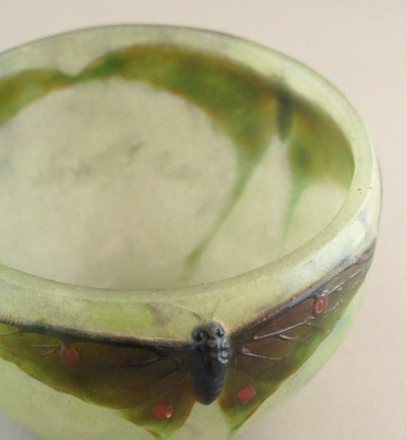 アールヌーヴォー「蝶文様 鉢」