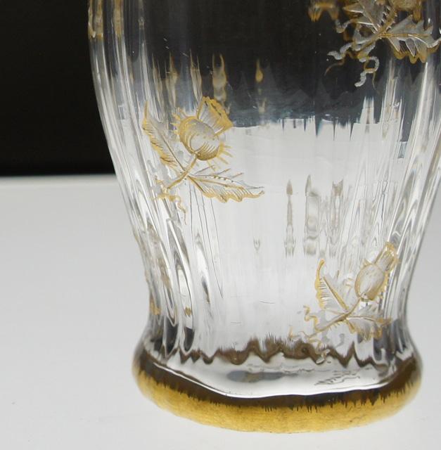 グラスウェア「金彩 アザミ文様 リキュールグラス」