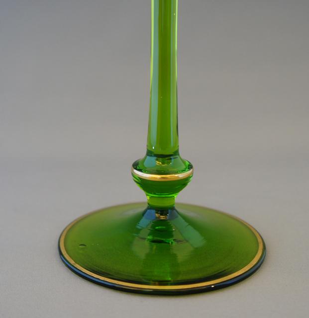 装飾ガラス「花文様 ワイングラス」