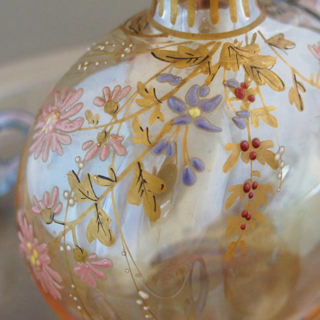 装飾ガラス「ラスター彩 草花文 リキュールセット」