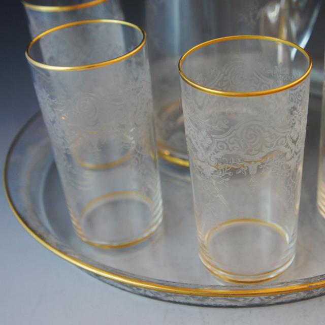 装飾ガラス「金彩装飾 ビールセット」