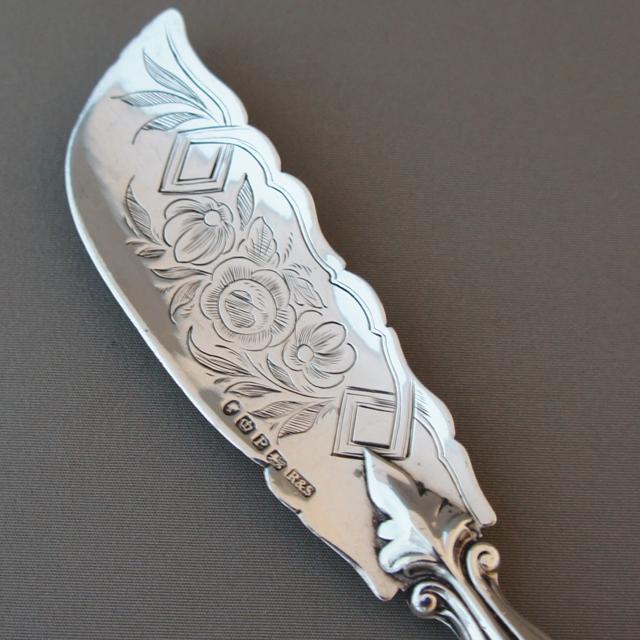 シルバー「マザーパール バターナイフ」