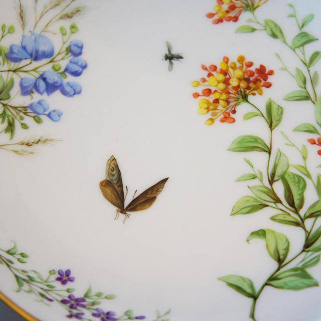 陶磁器「草花に昆虫文 コンポート」