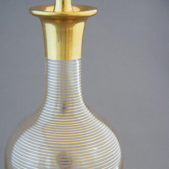 グラスウェア「春海バカラ 金彩 リキュールボトル」