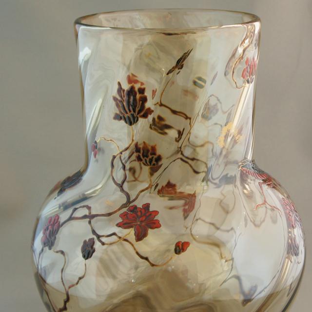 アールヌーヴォー「草花に蟷螂文 花瓶」