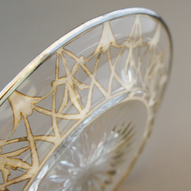 グラスウェア「銀装飾 小皿」