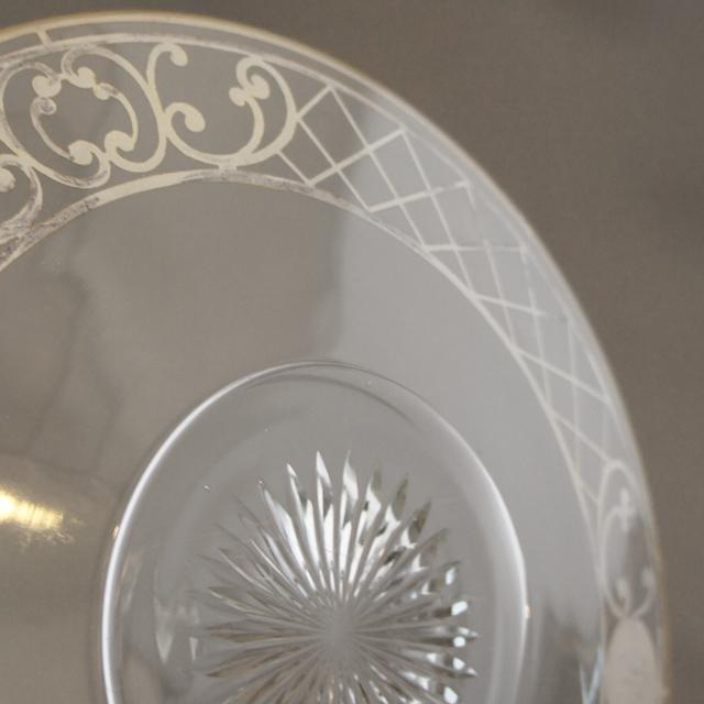 グラスウェア「銀装飾 イニシャル刻印 皿」