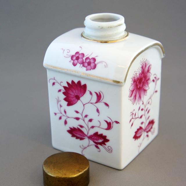 陶磁器「花文様 ティーキャディー」