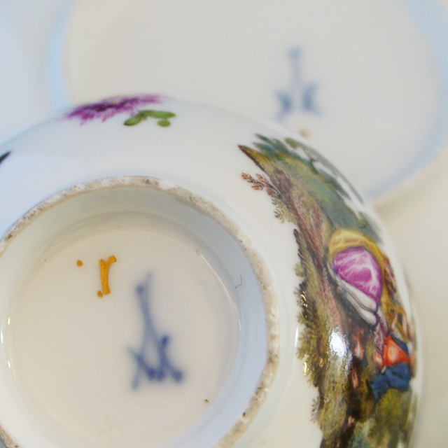 陶磁器「人物文 カップ&ソーサー」