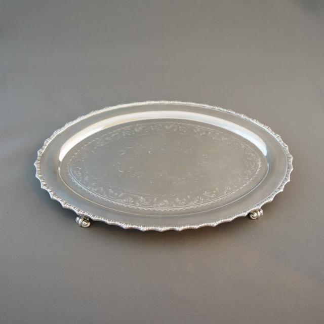 シルバー「楕円型 ミニトレー」