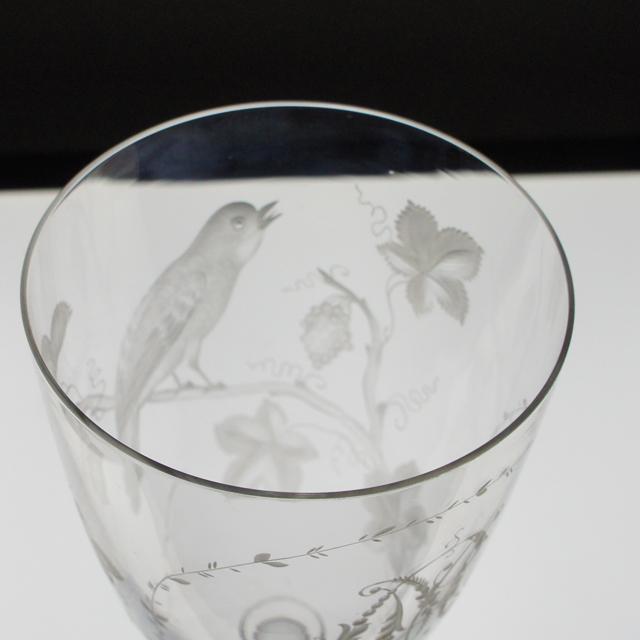 グラスウェア「鳥文様グラヴィール グラス」