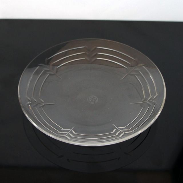 グラスウェア「葉っぱカット 小皿 直径13.5cm」