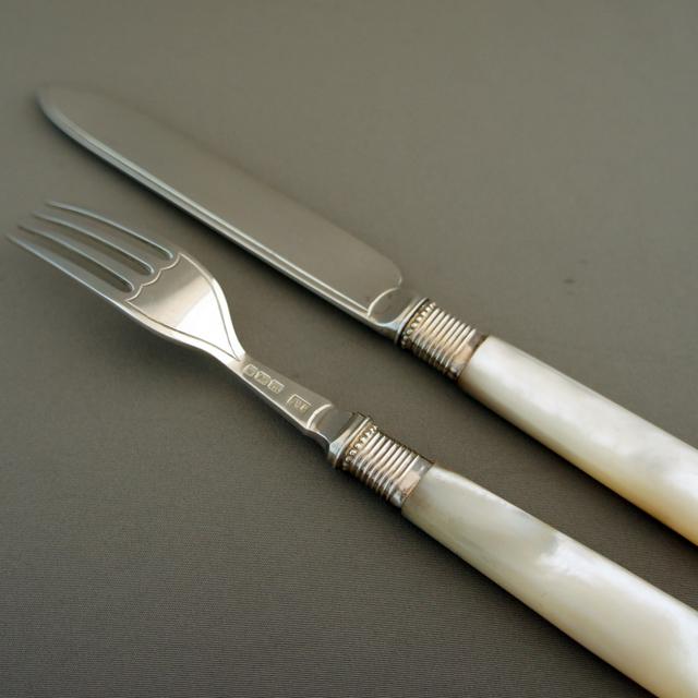 シルバー「デザートナイフ&フォーク 12セット 箱入り」