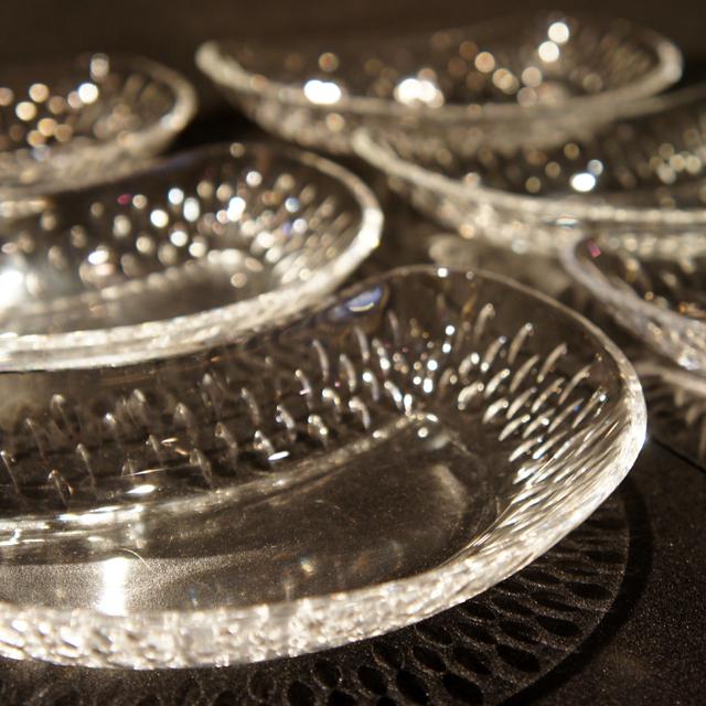 グラスウェア「パリ クレセント皿 6枚セット」