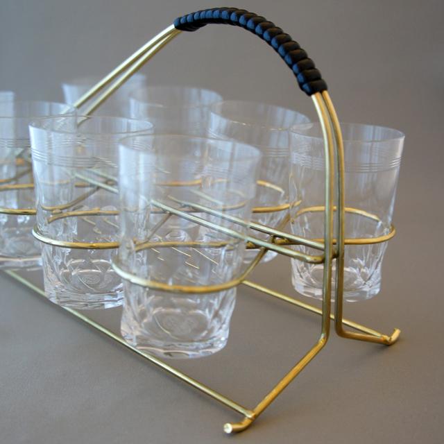 グラスウェア「ビゼルト リキュールグラス ホルダー付き8客セット」