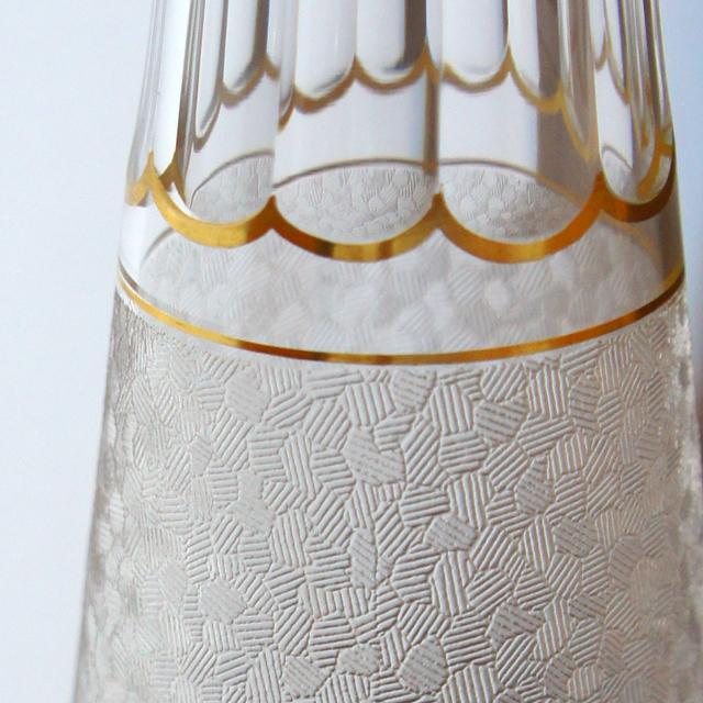 装飾ガラス「エッチング地紋 リキュールセット」