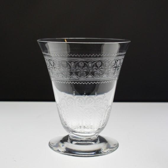 グラスウェア「葉っぱ文グラス 高さ10cm」