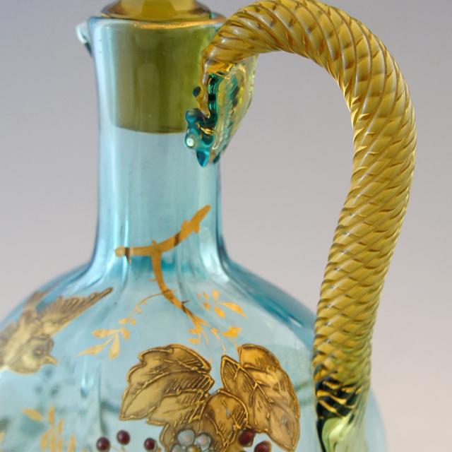 グラスウェア「金彩花鳥文 リキュールボトル」