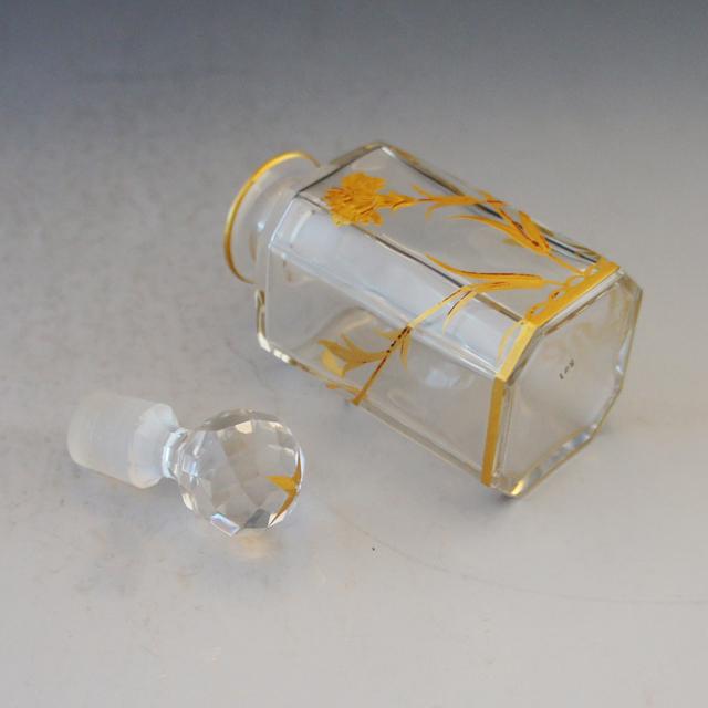 グラスウェア「金彩花文様 香水瓶(小)」