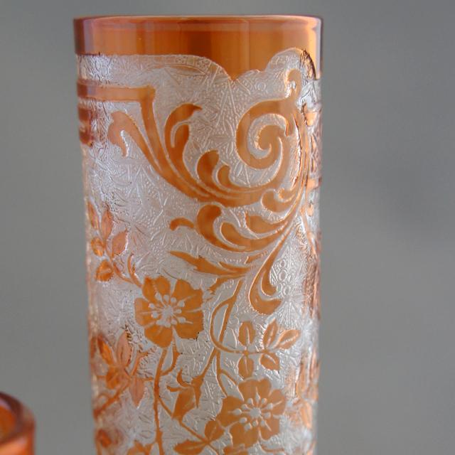 装飾ガラス「エグランチェ 台座付 花瓶3点」