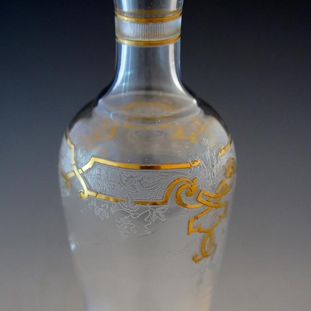 グラスウェア「金彩装飾 リキュールボトル」