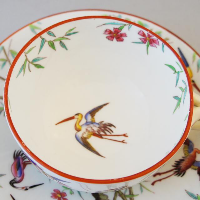 陶磁器「シノワズリ 花鳥文 ティーカップ」