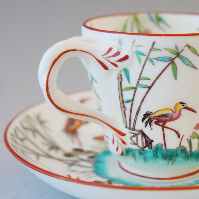 陶磁器「シノワズリ 花鳥文 コーヒーカップ」