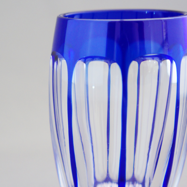 グラスウェア「青被せガラス ゴブレット 高さ7cm」