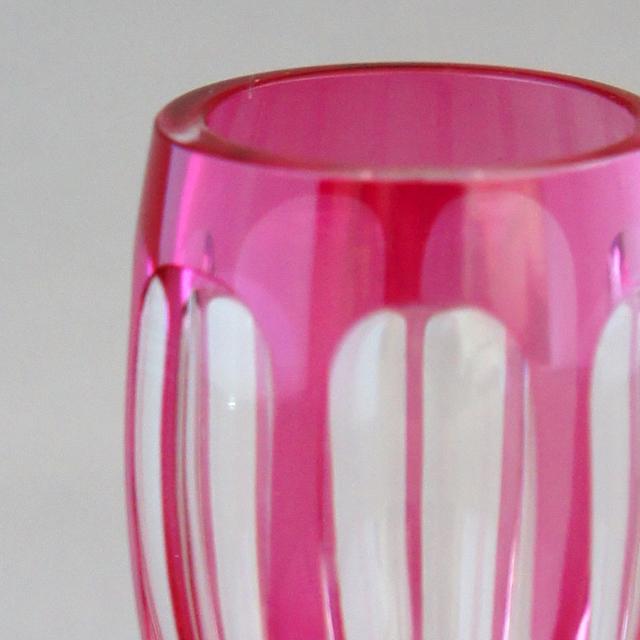 グラスウェア「ピンク被せガラス リキュールグラス 高さ5cm」