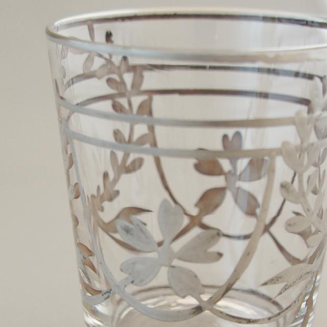 グラスウェア「銀巻き装飾 ショットグラス 高さ5.6cm」