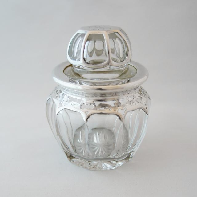 グラスウェア「銀巻き装飾 香水瓶」