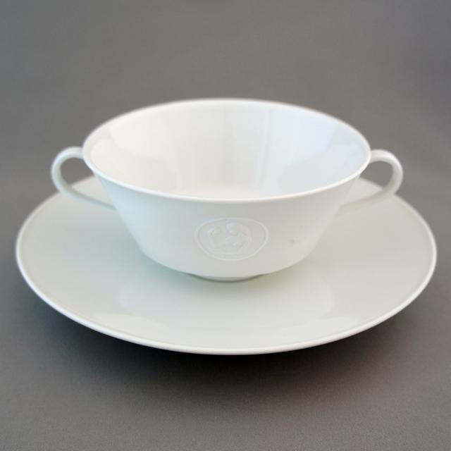 陶磁器「裸婦像ビスク スープカップ&ソーサー」