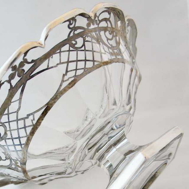 グラスウェア「銀巻き装飾 コンポート」