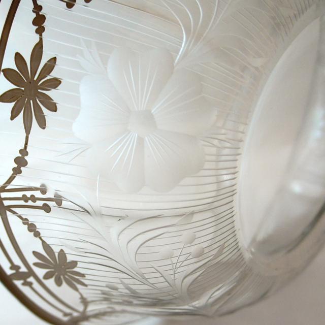 グラスウェア「銀巻き装飾 鉢」
