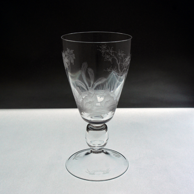 グラスウェア「シノワズリ グラヴィール装飾 グラス 高さ12.7cm」