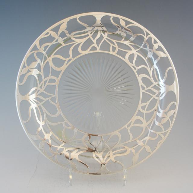 グラスウェア「銀巻き装飾 大皿」