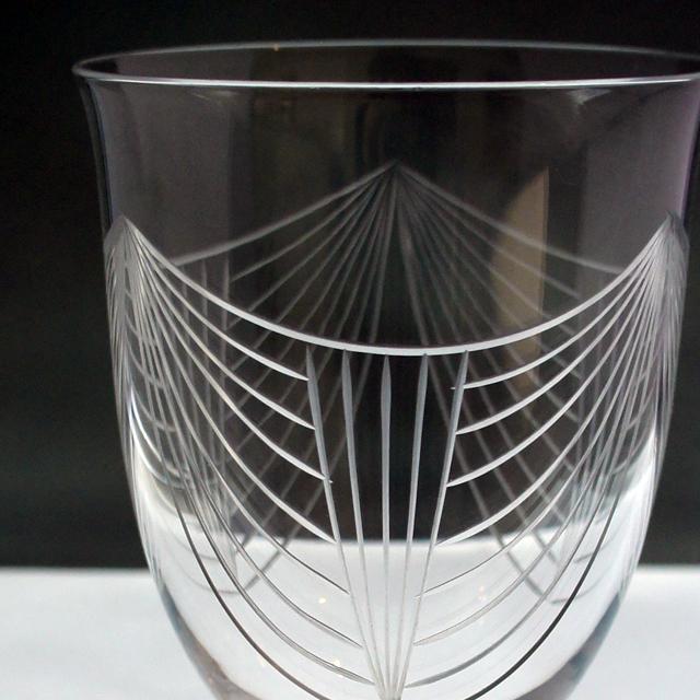 """グラスウェア「""""ジョルジュ・シュバリエ""""デザイン グラス 高さ11.6cm」"""