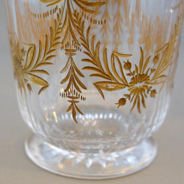 グラスウェア「金彩装飾 ゴブレット 高さ8.5cm」