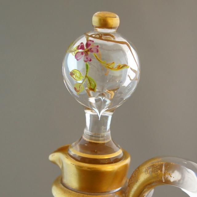 グラスウェア「エナメル装飾 花文様 ボトル」