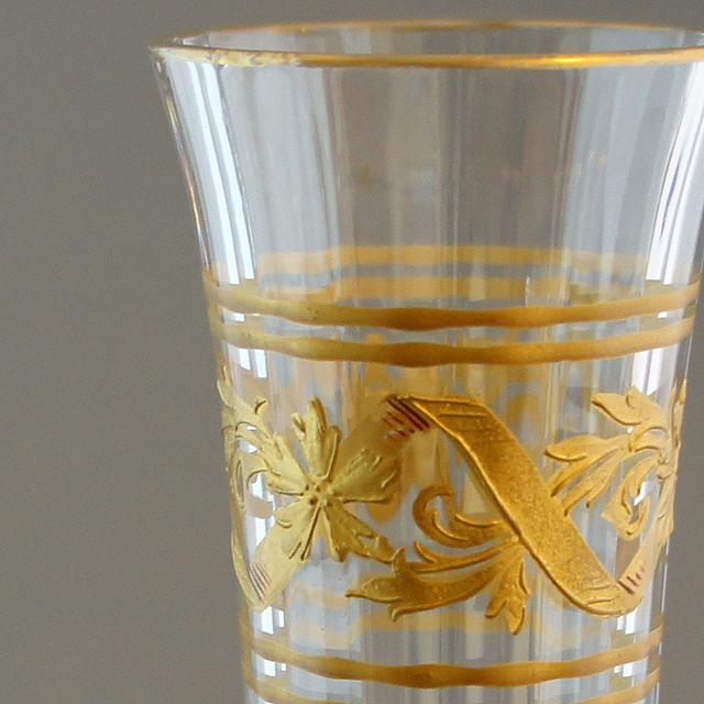 グラスウェア「金彩装飾 花瓶」