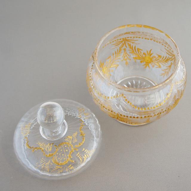 グラスウェア「金彩装飾 蓋物」
