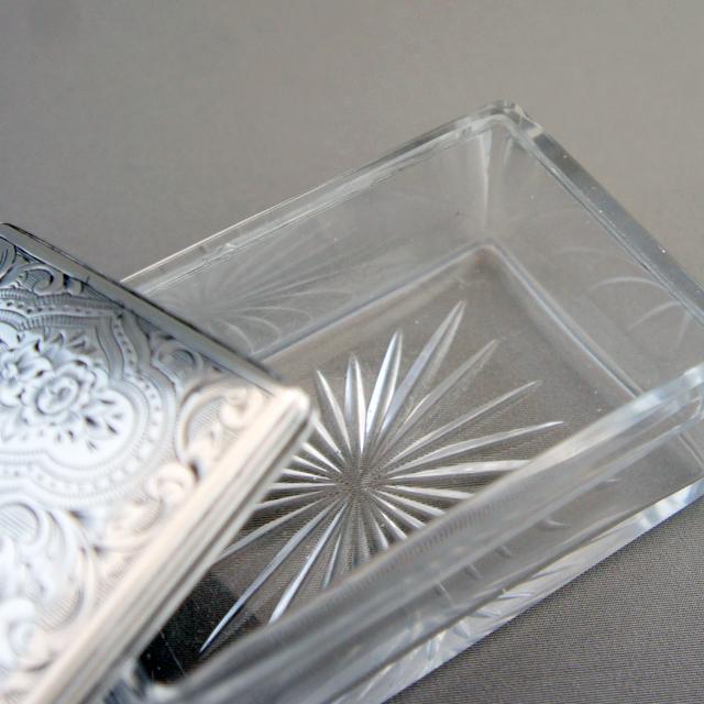 シルバー「シルバー&ガラス 蓋物」